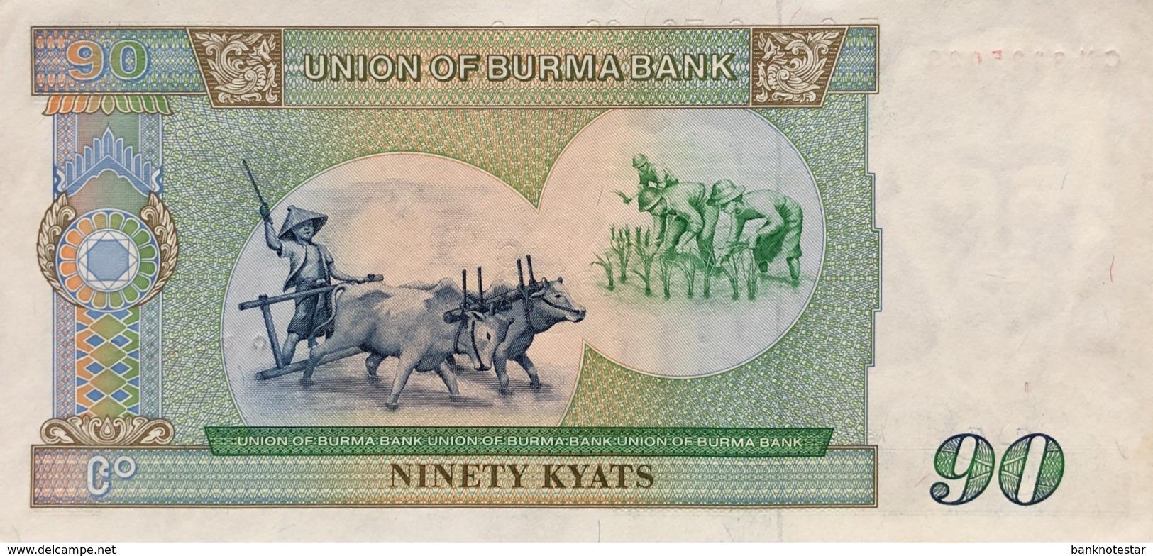 Myanmar 90 Kyat, P-66 (1987) - UNC - Myanmar