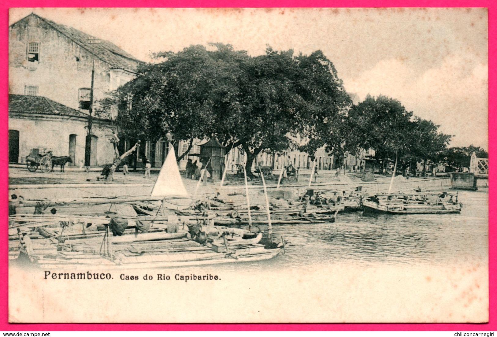 Brésil - Pernambuco - Caes Do Rio Capibaribe - Barque - Pirogue - Animée - Attelage - Recife