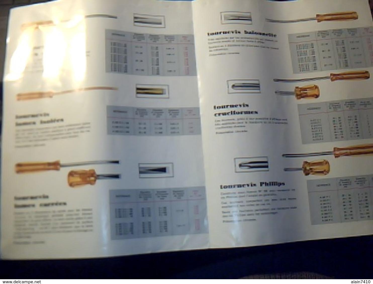 Publicité Outillage FACOM Tournevis   Isoryl Annee 60/70?  Tract 2  Pages - Publicités