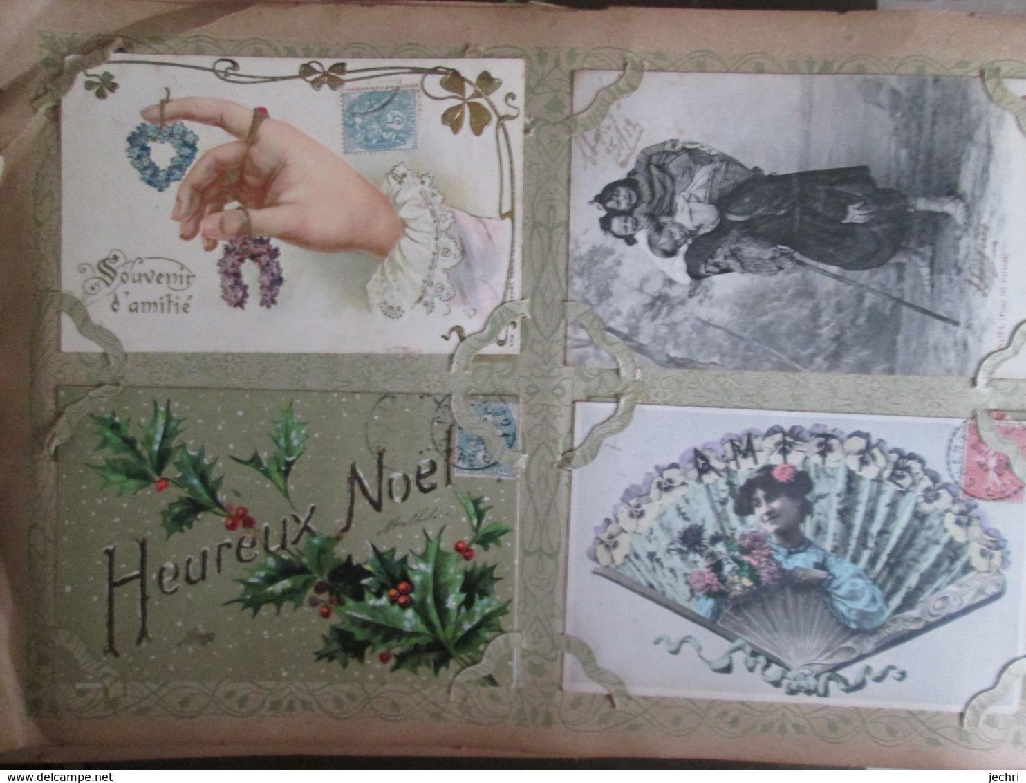 Album De Famille Avec Plus De 500 Cartes  Meme Correspondance   Avec Villages Et Animations . Fantaisies - Postcards
