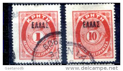 Creta-028 - 1901 - Y&T: N.10, 12 - - Creta