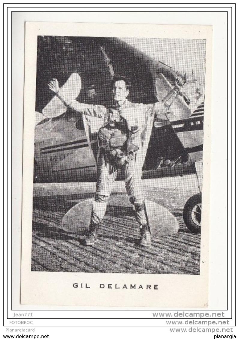 1863 AV302 AK/PC CPA PARACHUTISME GIL DELAMARE NC TTB - Paracadutismo