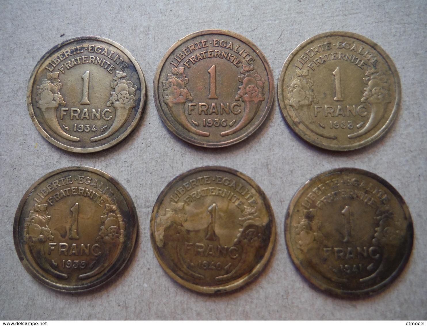 P67   6 X 1 Franc Morlon - 1934 à 1941 - H. 1 Franc