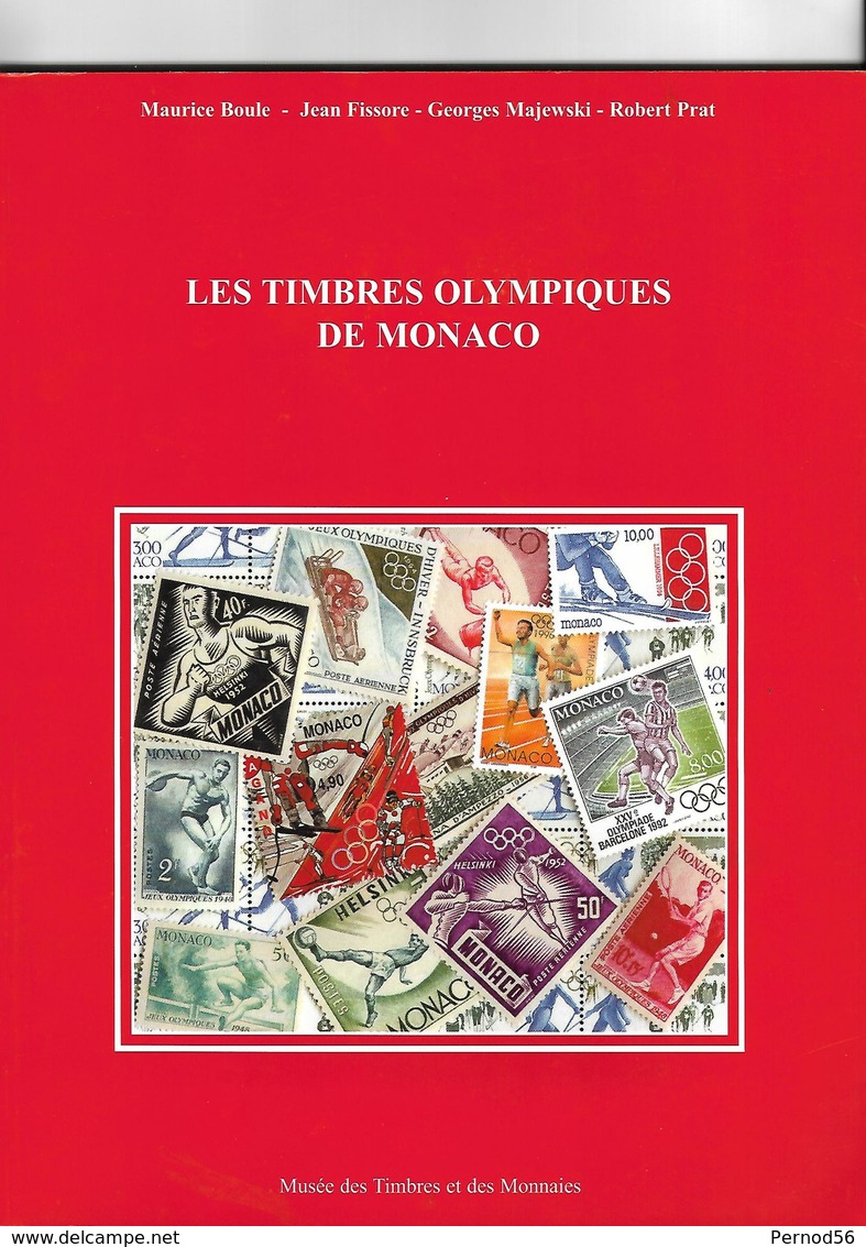 """Très Beau LIVRE 112 Pages """"Les Timbres OLYMPIQUES De MONACO""""  BOULE  FISSORE  MAJEWSKI PRAT - Autres Livres"""