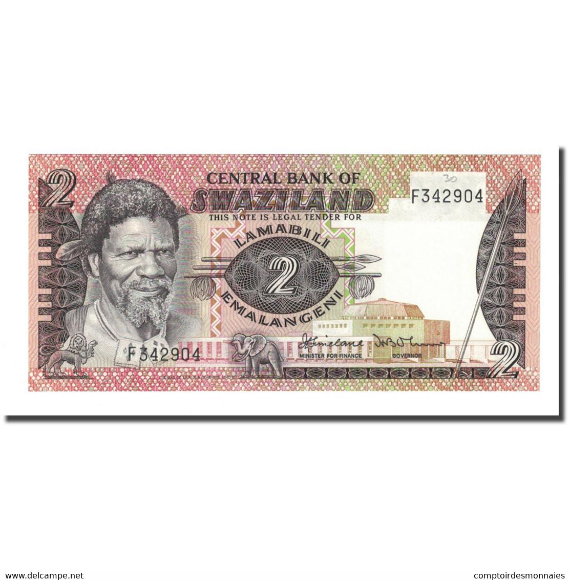 Billet, Swaziland, 2 Emalangeni, Undated (1983- ), KM:8a, NEUF - Swaziland