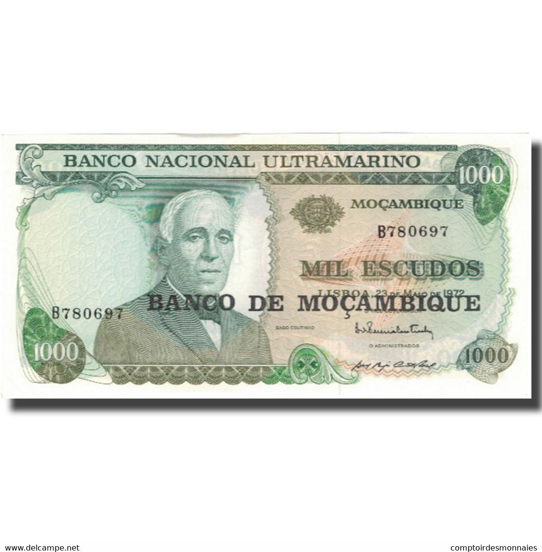 Billet, Mozambique, 1000 Escudos, 1972, 1972-05-23, KM:119, NEUF - Mozambique