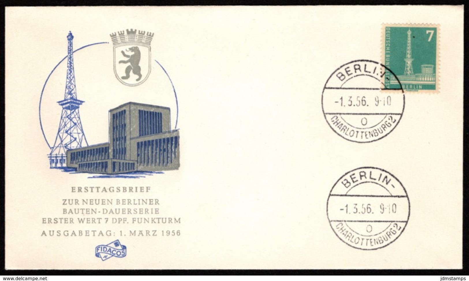 BER SC #9N122 1956 Radio Station, Berlin (no Top Inscription) FDC 09-15-1956 - [5] Berlin