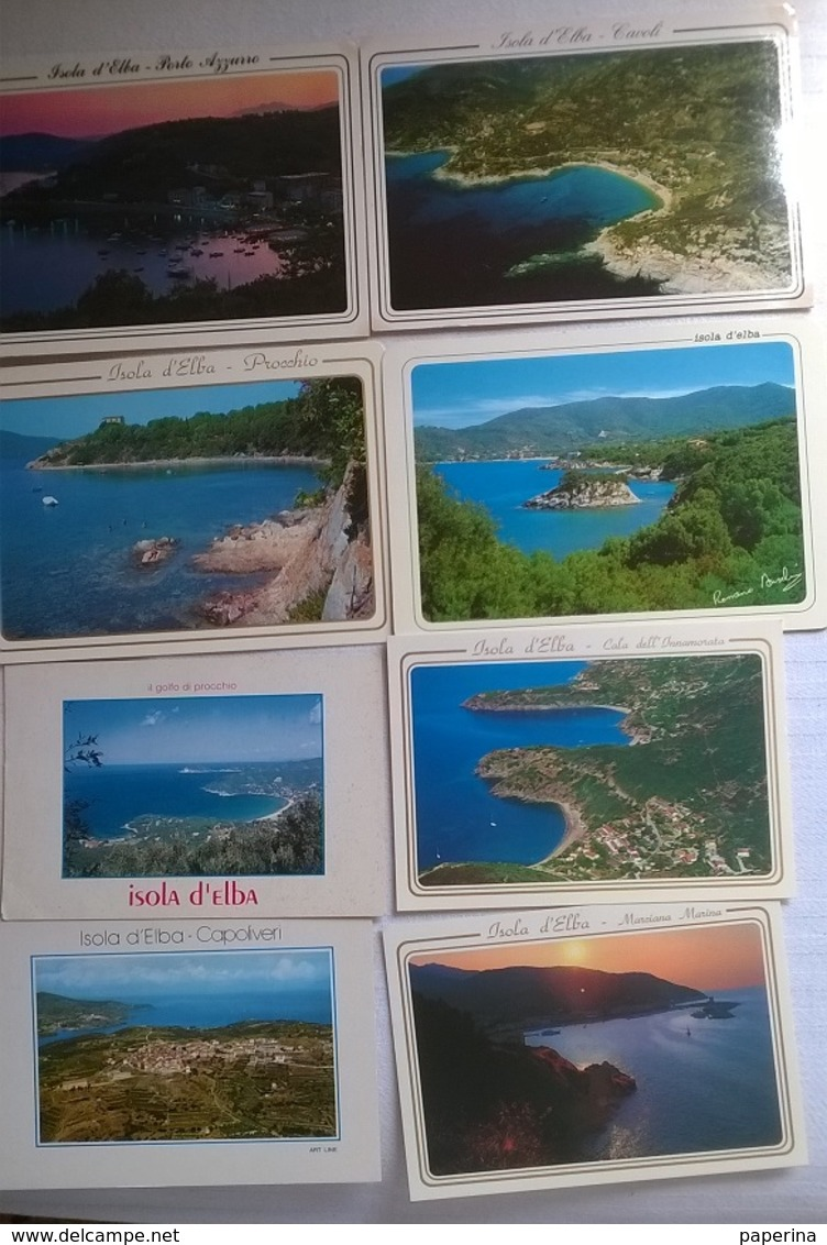 8 CARTOLINE ISOLA D'ELBA   (151) - Cartoline