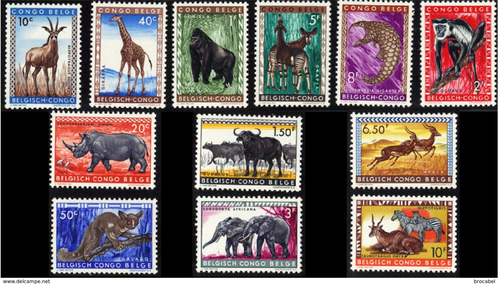 Congo 0350/61* Animaux Protégés - 1947-60: Neufs