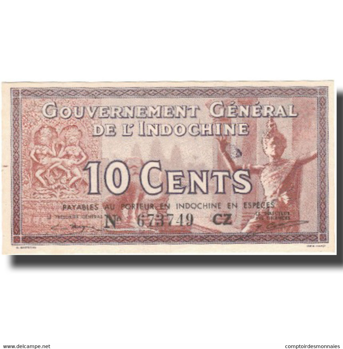 Billet, FRENCH INDO-CHINA, 10 Cents, Undated (1939), KM:85c, NEUF - Indochine