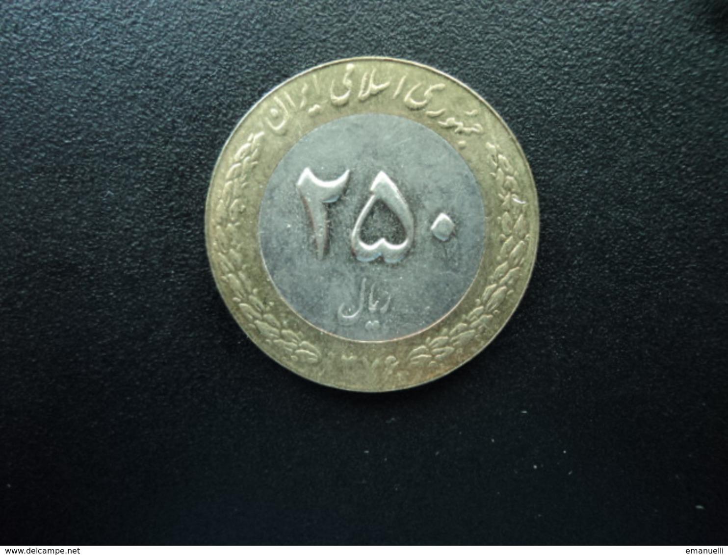 IRAN : 250 RIALS   1376 (1997)   KM 1262    SUP+ * - Iran