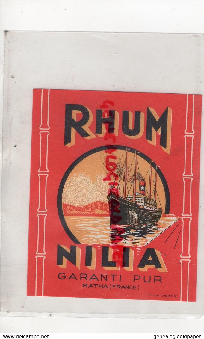 17- MATHA - ETIQUETTE RHUM NILIA  PAQUEBOT - Rhum