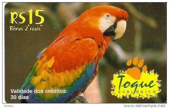 TARJETA DE BRASIL DE UN GUACAMAYO (PARROT) - Loros