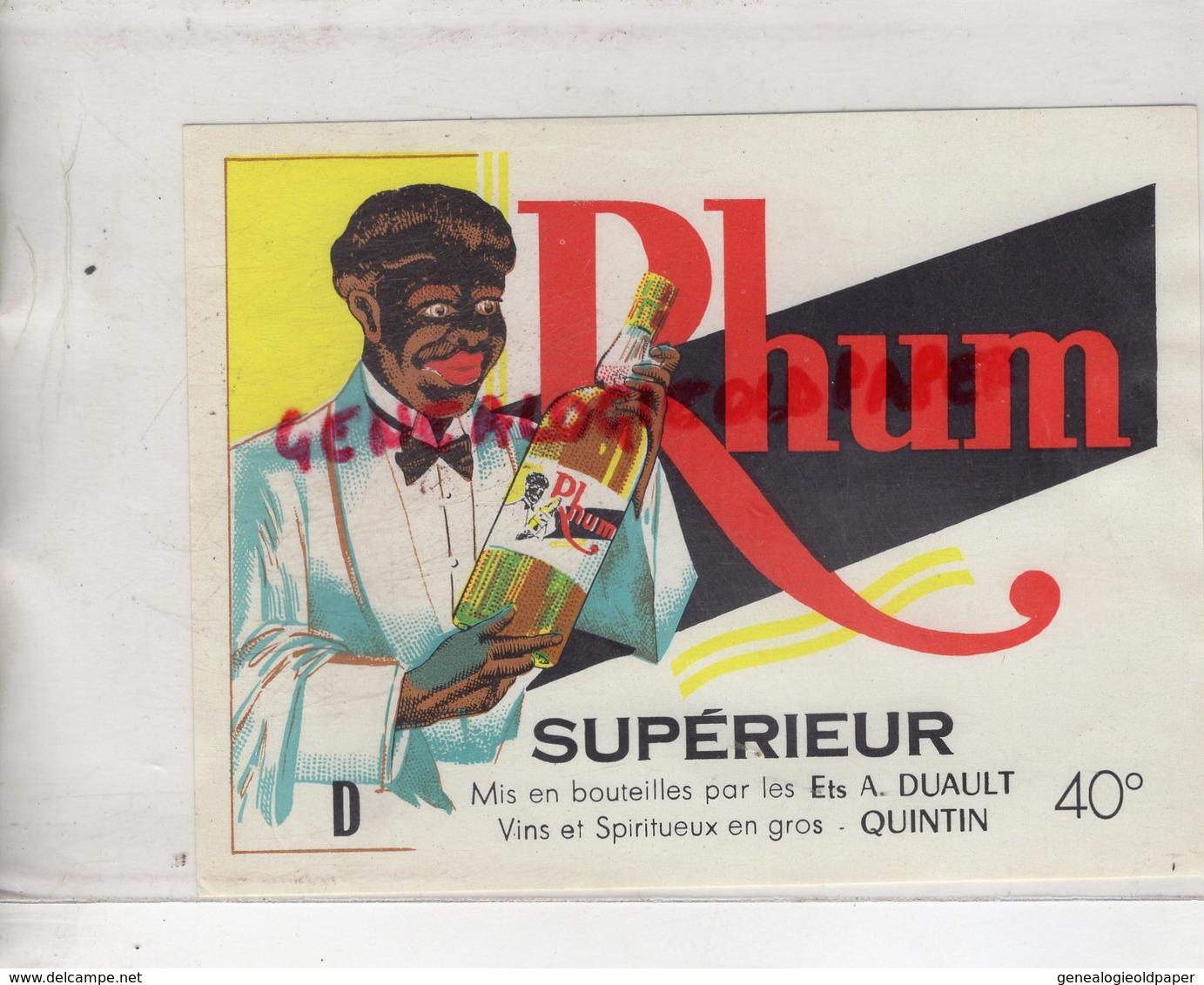 22 - QUINTIN - ETIQUETTE RHUM SUPERIEUR - ETS. A. DUAULT - Rhum