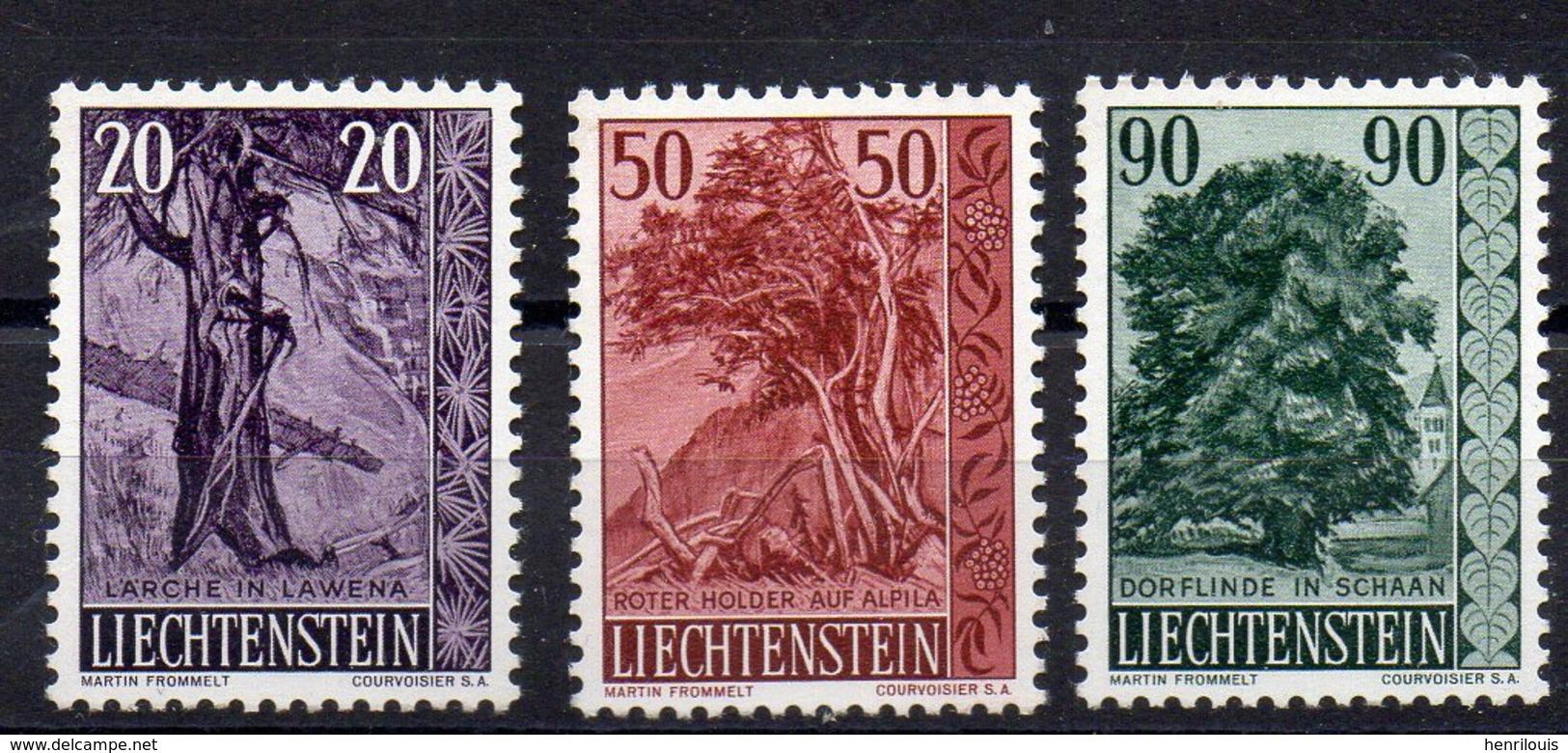 LIECHTENSTEIN    Timbres Neufs ** De  1959  ( Ref 985 )  Plantes - Arbres - Liechtenstein