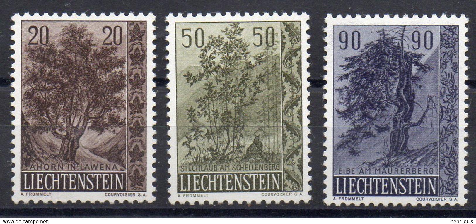 LIECHTENSTEIN    Timbres Neufs ** De  1958  ( Ref 985A )  Plantes - Arbres - Liechtenstein