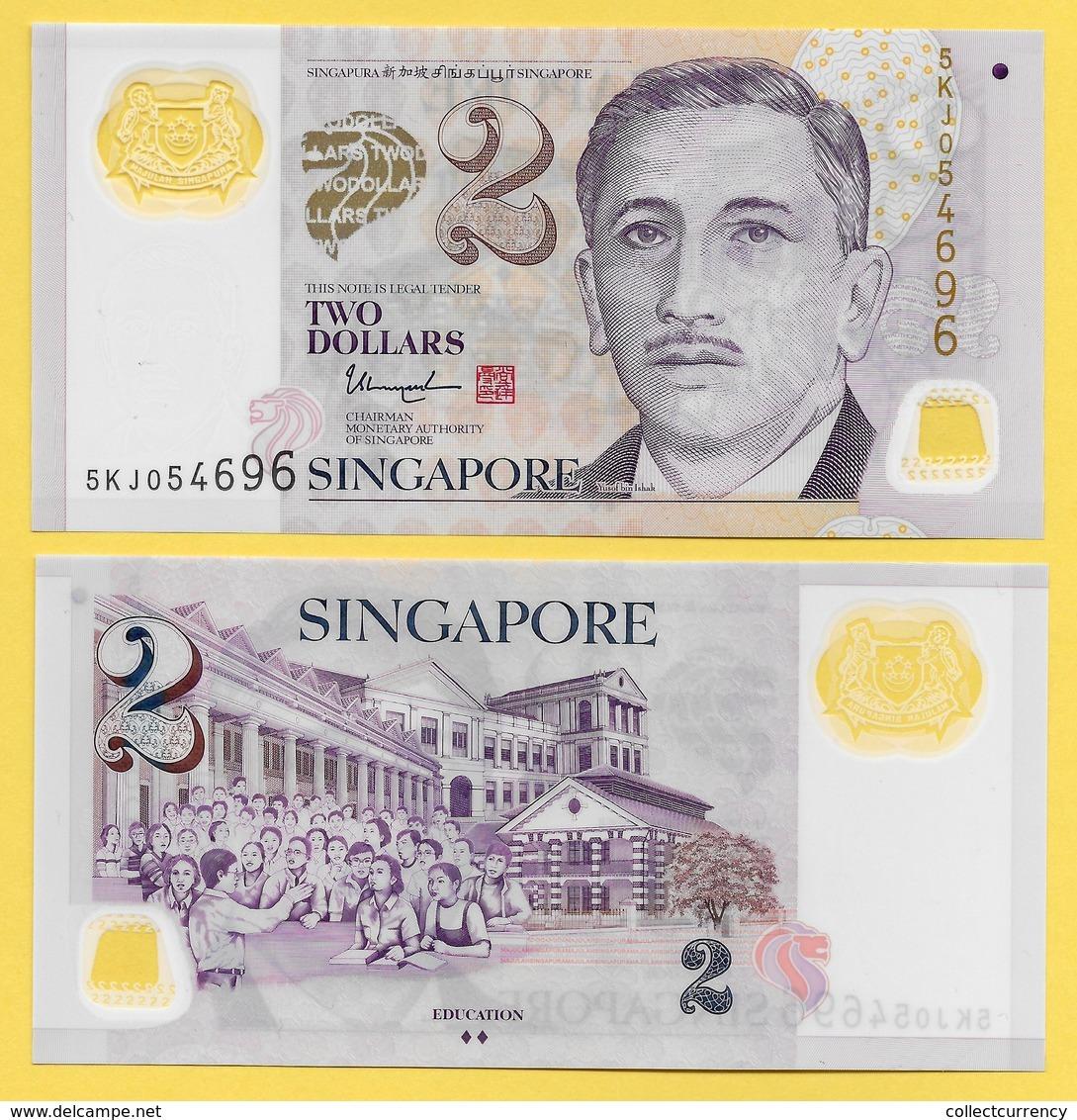 Singapore 2 Dollars P-46g 2015 UNC - Singapour