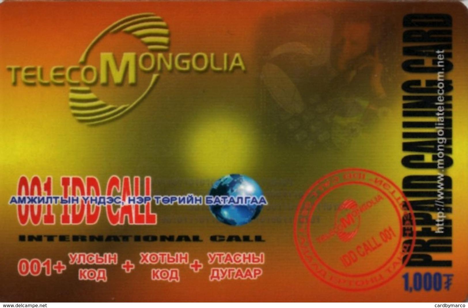 *MONGOLIA* - Scheda Usata - Mongolia
