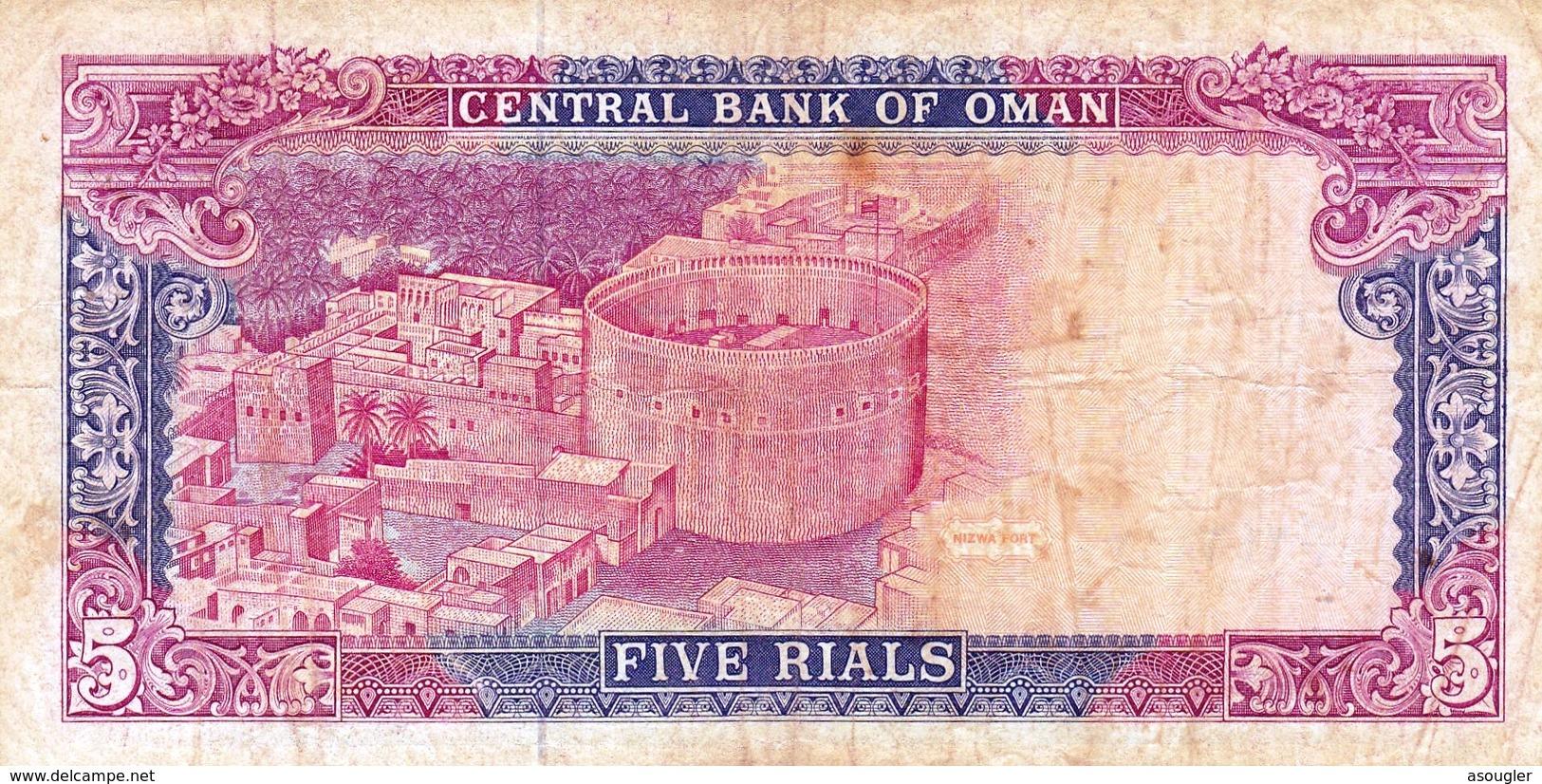 "OMAN 5 RIALS 1990 F P-27 PREFIX 1 ""free Shipping Via Registered Air Mail"" - Oman"