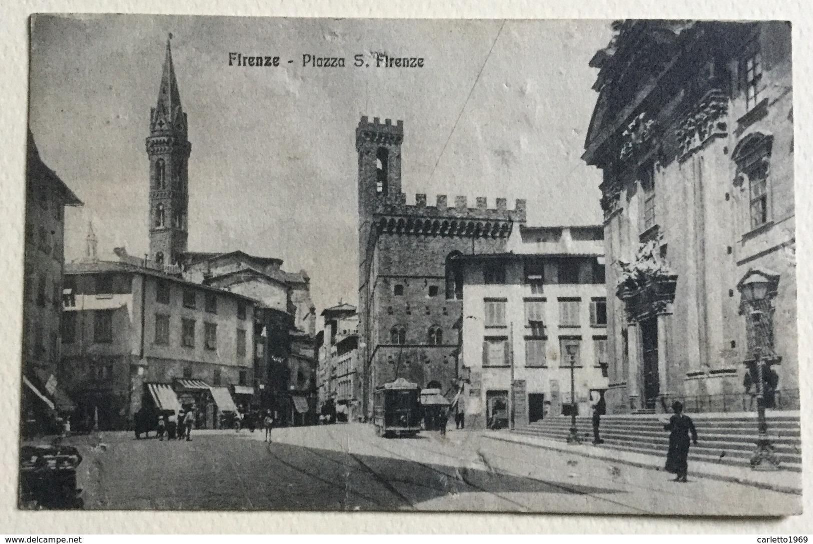 FIRENZE PIAZZA S. FIRENZE 1922 VIAGGIATA FP - Firenze