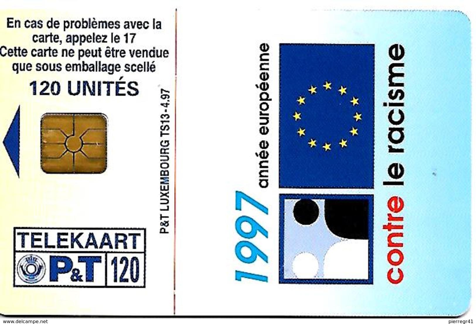 CARTE-n-PUCE-LUXEMBOURG-TS13-120U-SC7-04/97-VIVONS ENSEMBLE-TBE - Luxembourg