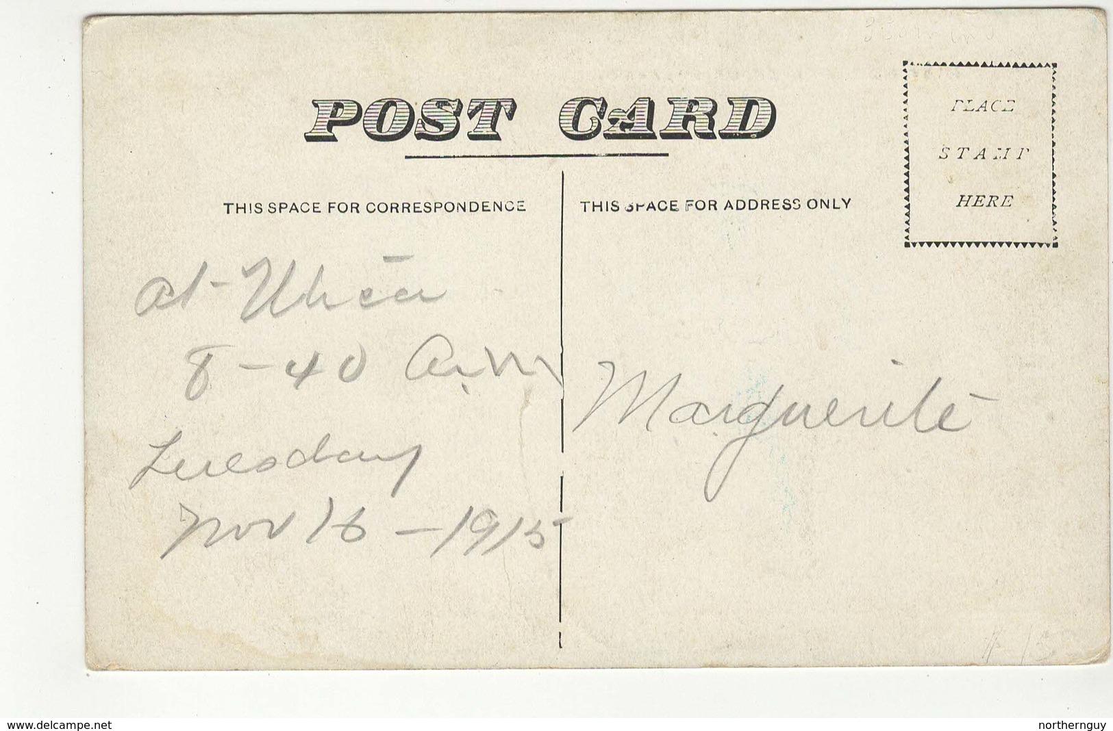UTICA, Kansas, USA, East Side Of Main Street, Stores, 1915 Blue-Tone Postcard - United States