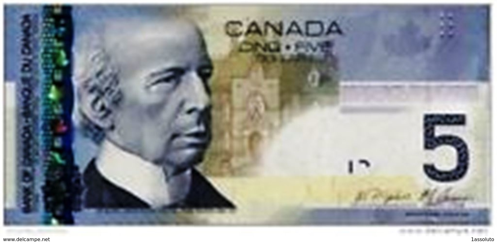 Banconota Canada  5 Dollari - Canada