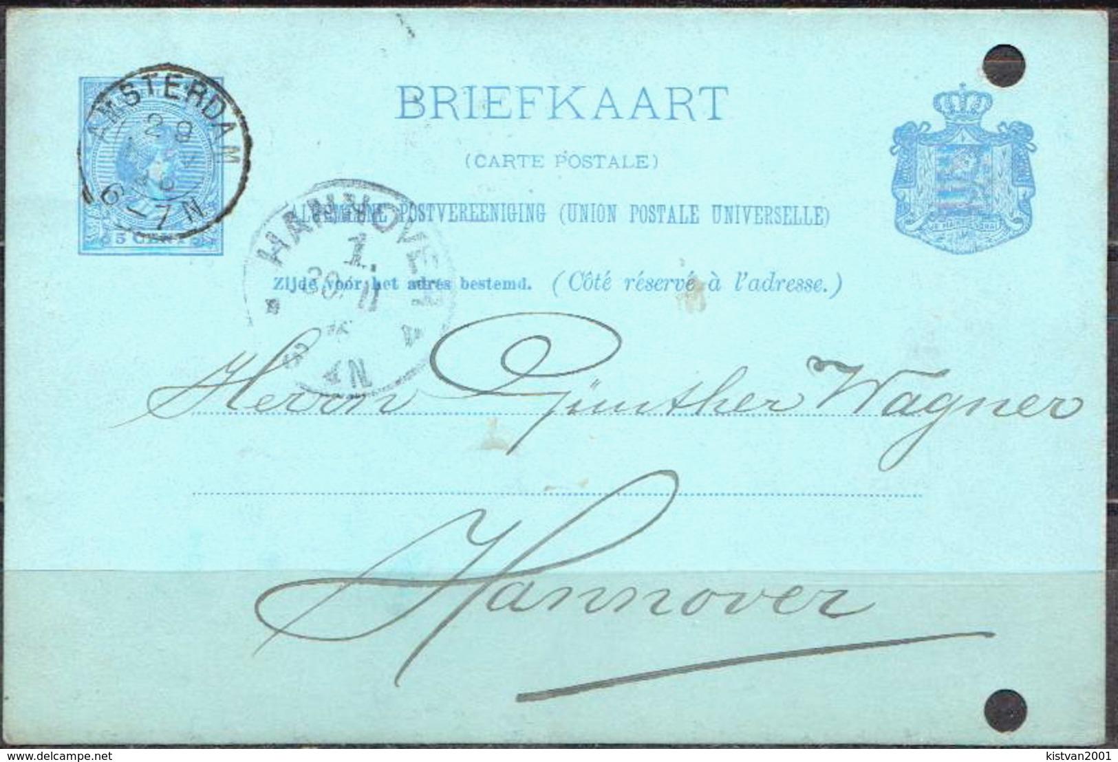 Postal History: Netherlands Postal Stationary From 1896 - Postal Stationery