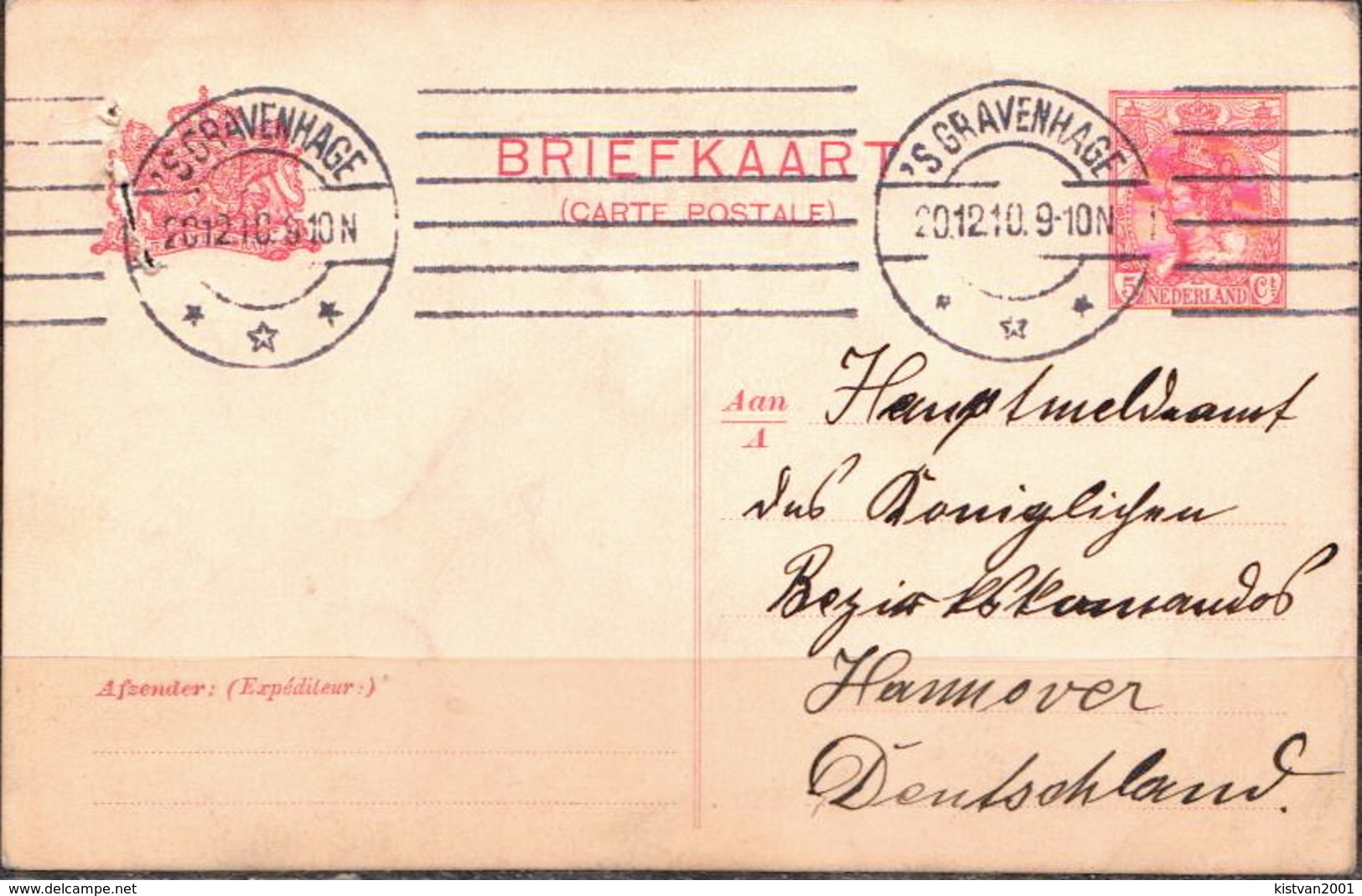 Postal History: Netherlands Postal Stationary From 1910 - Postal Stationery
