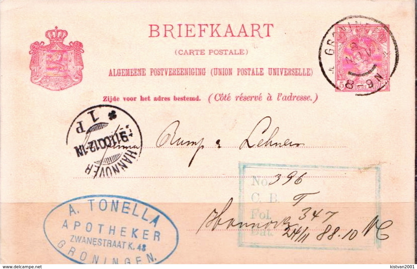 Postal History: Netherlands Postal Stationary From 1900 - Postal Stationery