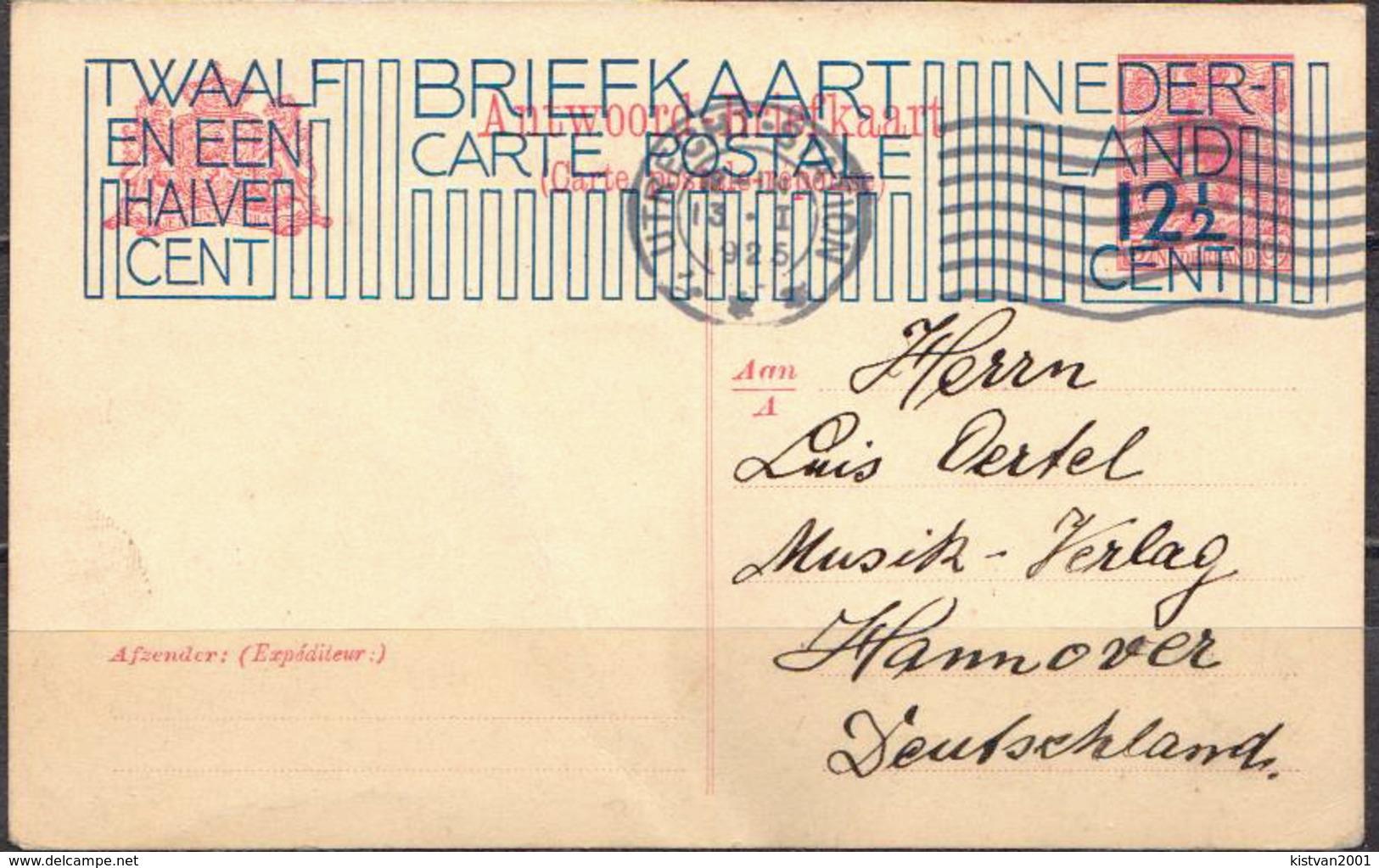Postal History: Netherlands Overprinted Postal Stationary From 1925 - Postal Stationery