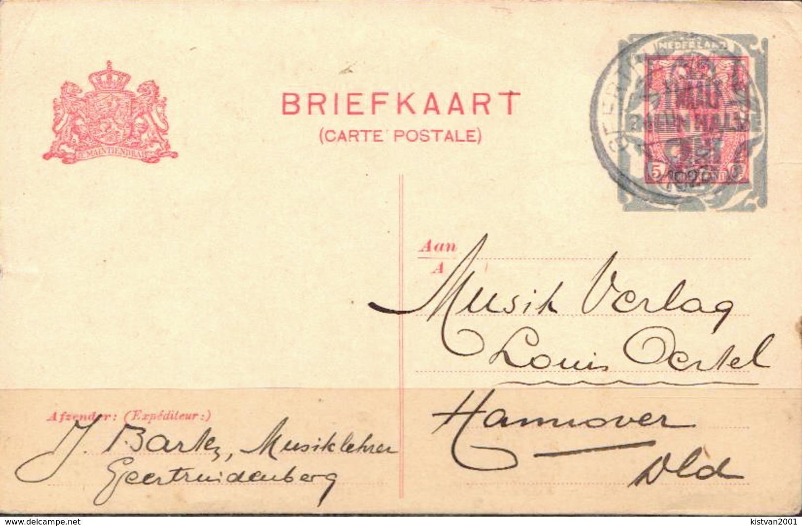 Postal History: Netherlands Overprinted Postal Stationary From 1928 - Postal Stationery