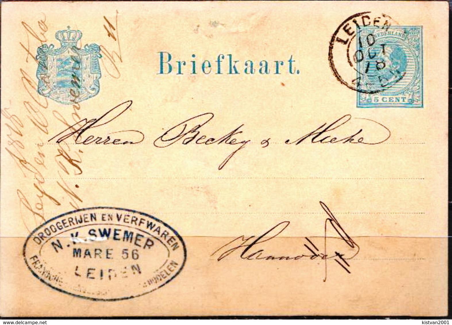 Postal History: Netherlands Postal Stationary From 1878 - Postal Stationery