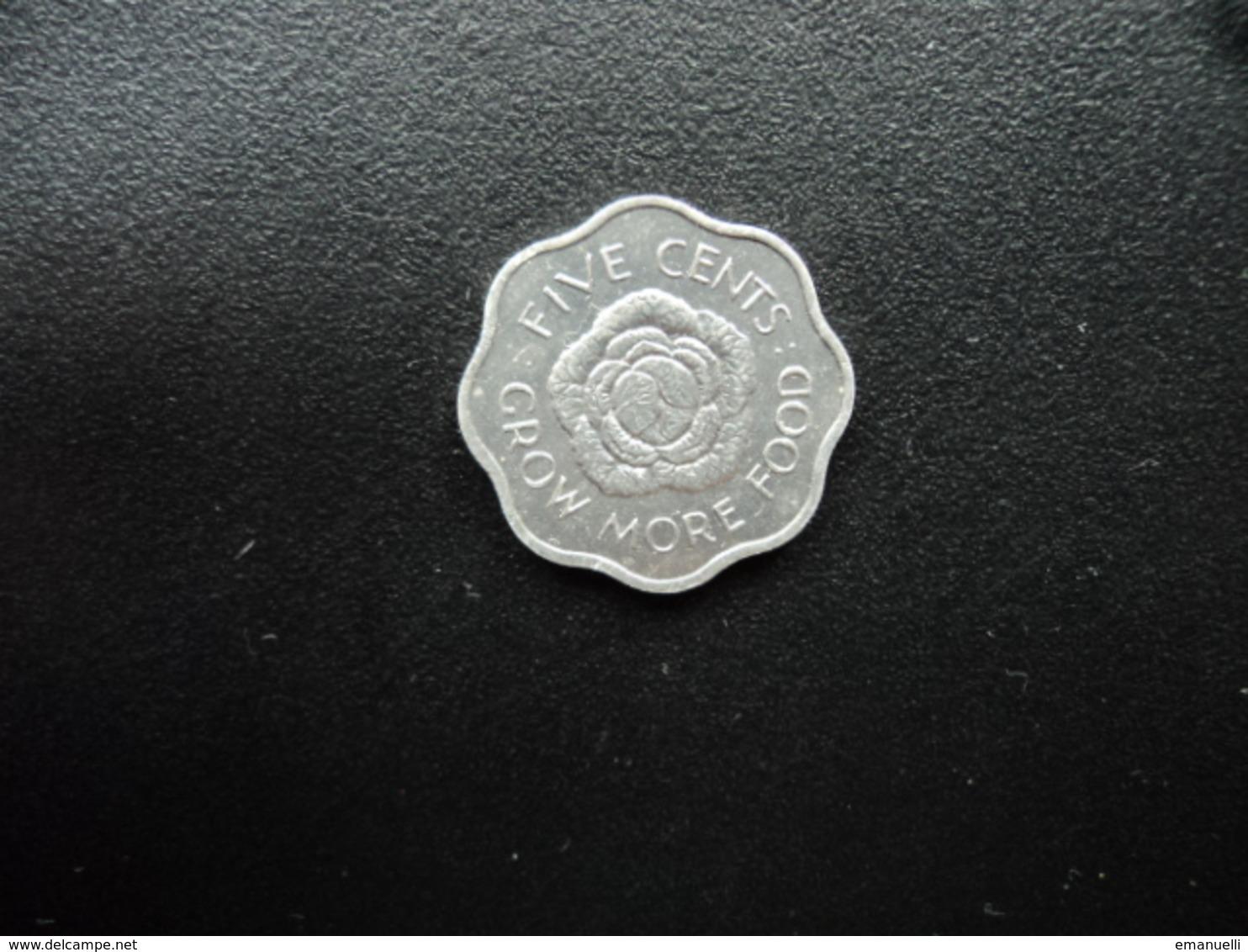 SEYCHELLES : 5 CENTS   1972   KM 18    SUP+ (non Circulé) - Seychelles