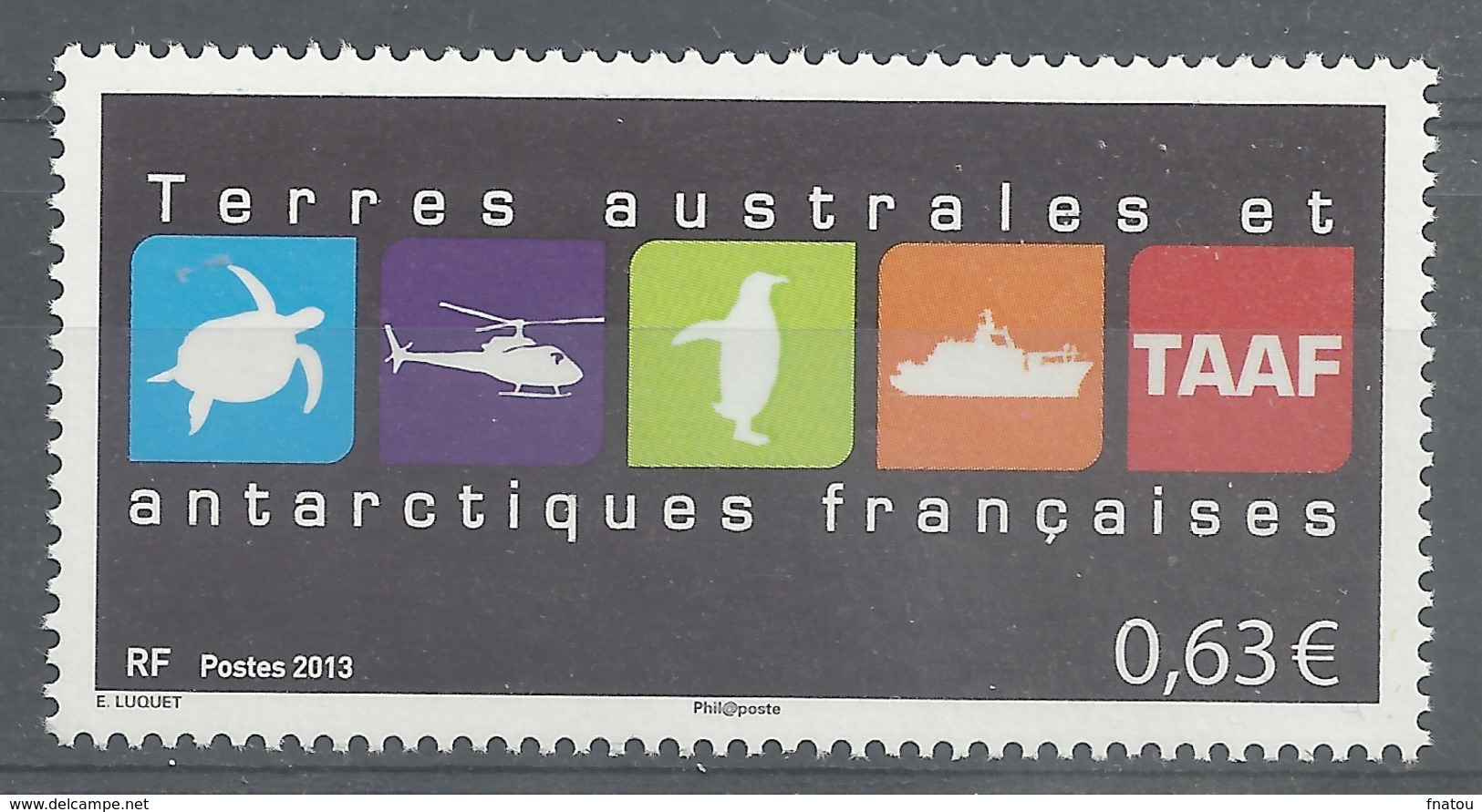 French Antarctic (FSAT), Coat Of Arms, 2013, MNH VF - Unused Stamps