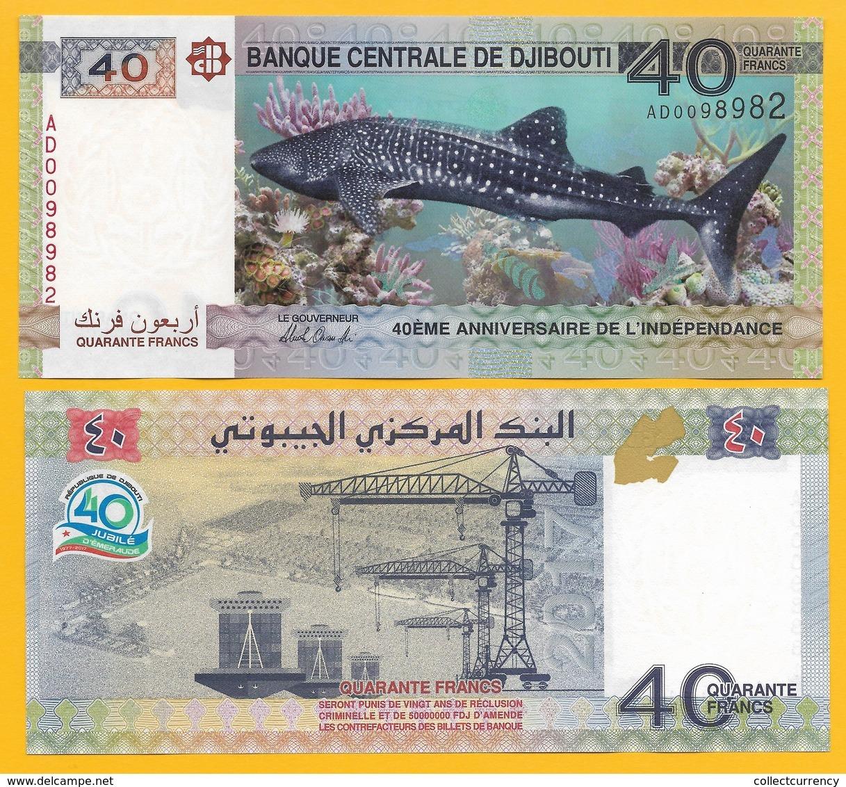 Djibouti 40 Francs P-46 2017 (Prefix AD) Commemorative UNC - Djibouti