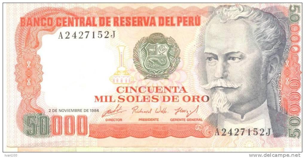 Peru, 50.000 Soles De Oro, Date 02.11.1984, P-125, UNC - Pérou
