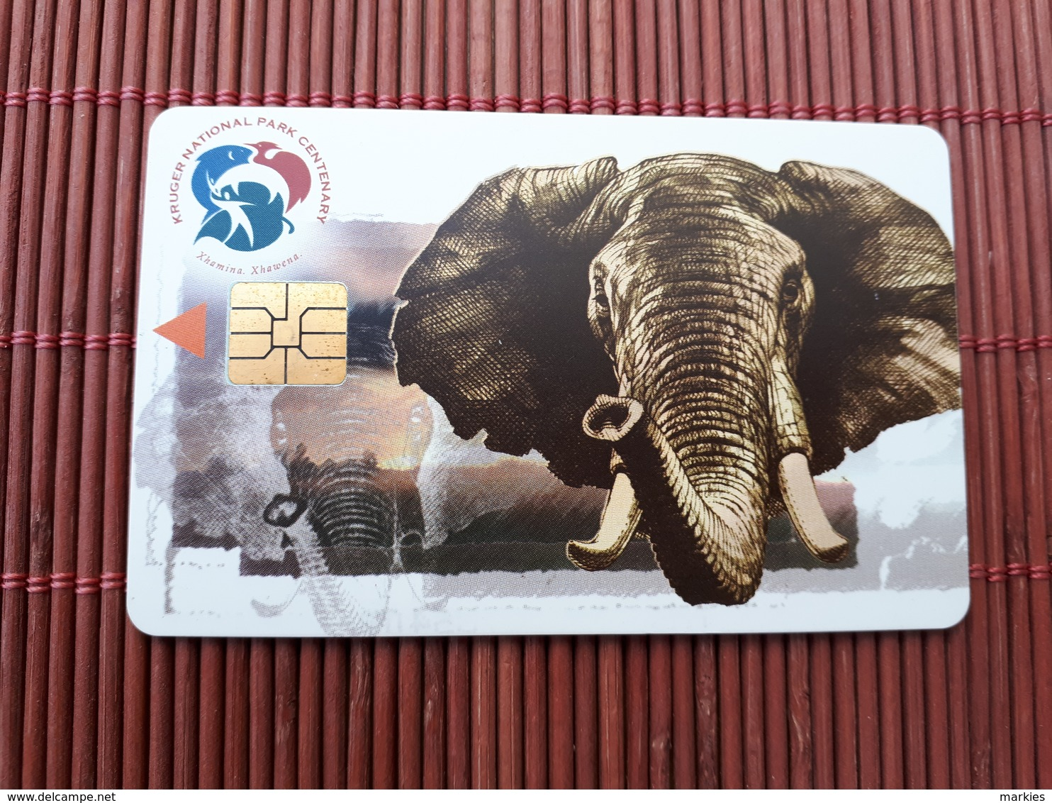 Phonecard South Africa Elephant Used  Rare - Afrique Du Sud