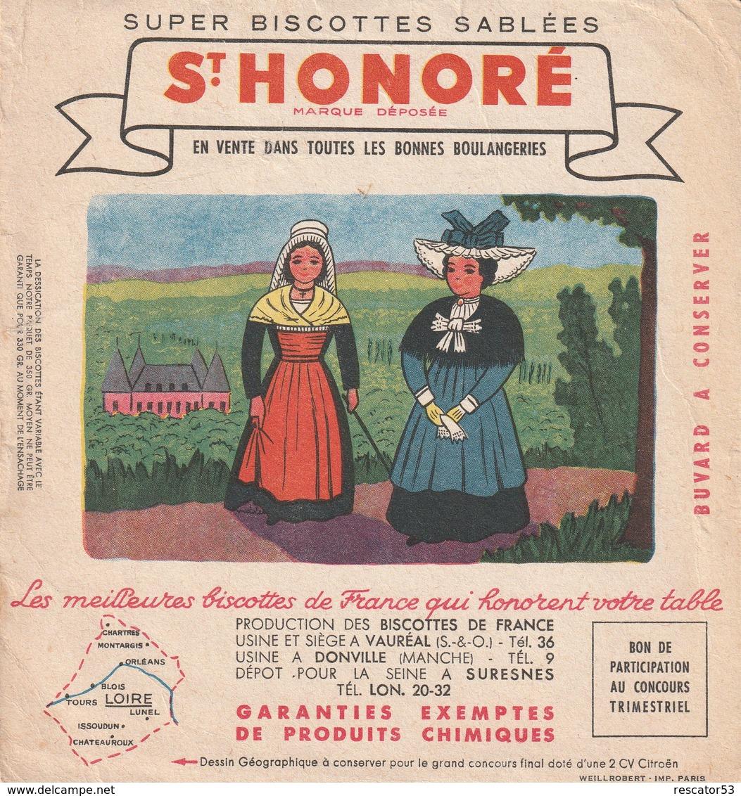 Rare Buvard Biscottes St Honoré La Loire - Biscottes