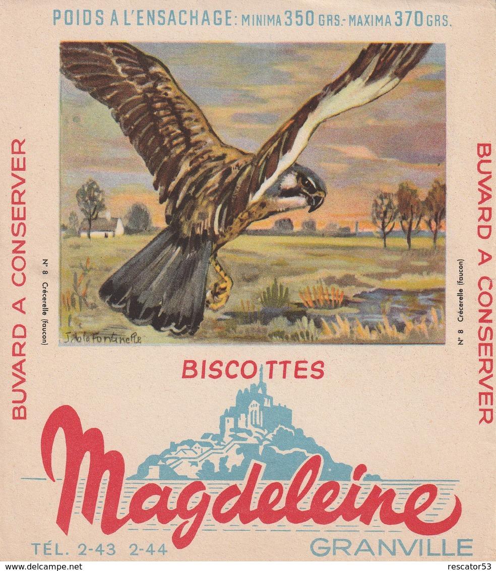 Rare Buvard Biscottes Magdeleine Granville  Faucon - Biscottes