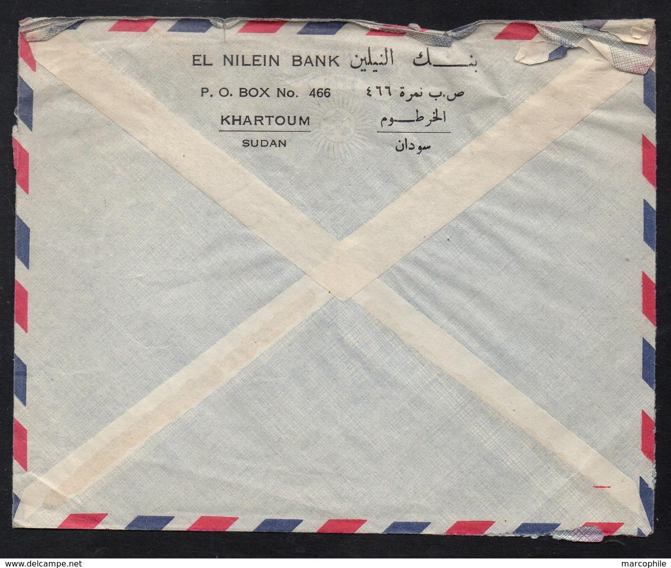 SOUDAN - SUDAN - KHARTOUM / 1967 LETTRE AVION POUR LA SUEDE (ref 7951) - Soudan (1954-...)