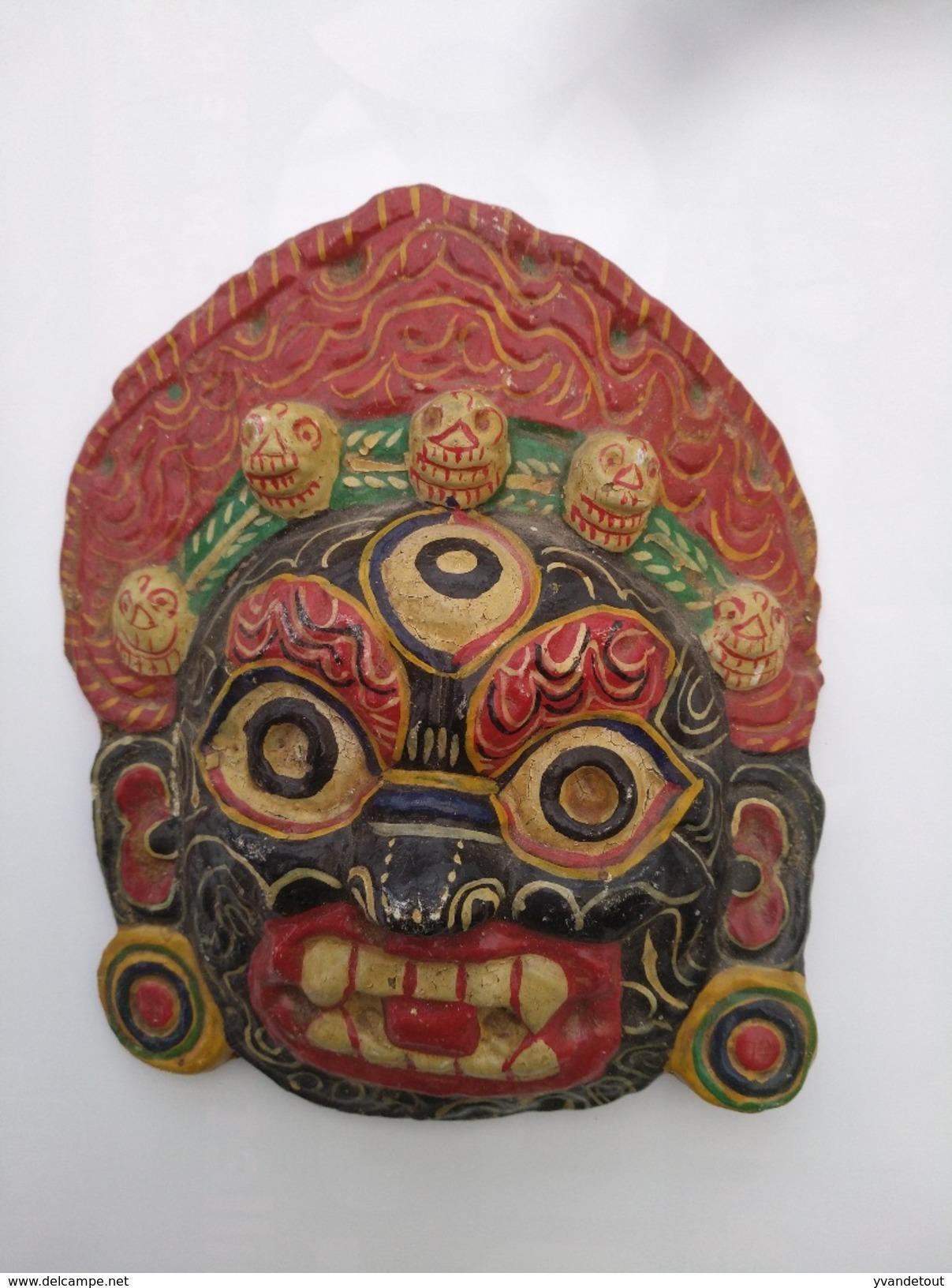 Masque Indonésien De Bali. Masque En Papier Mâché Pour Théâtre - Art Asiatique
