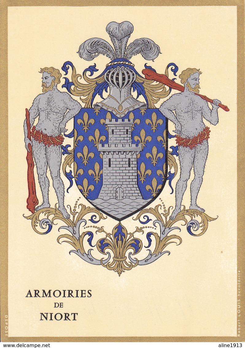 79 NIORT /   - BLASON  AVEC HERALDIQUE ET PETIT HISTORIQUE AU VERSO - CARTE SIMPLE - Niort