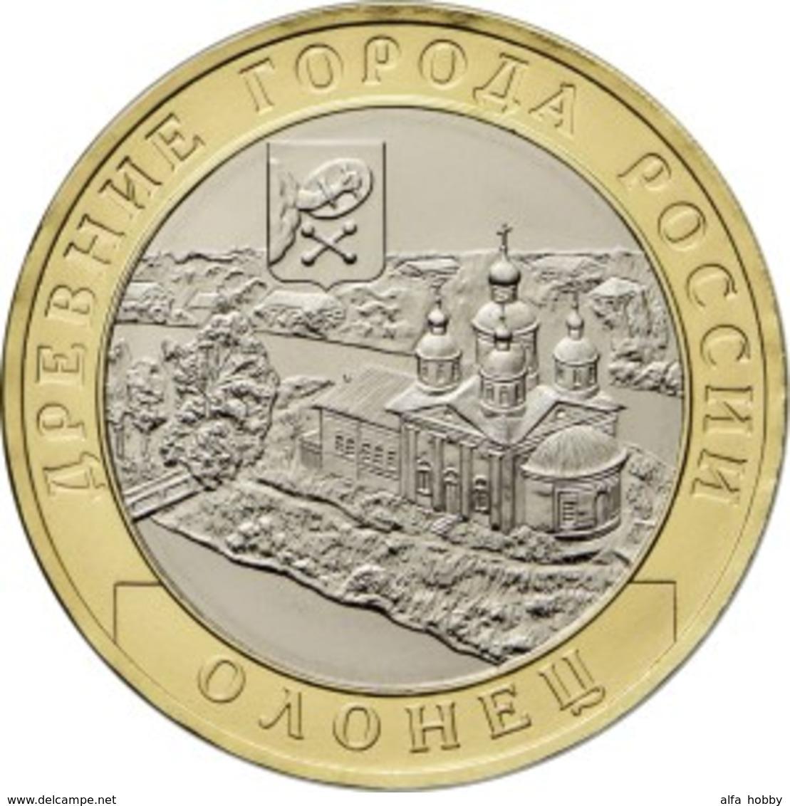 Russia, Olonets, The Republic Of Karelia, 2017 10 Rbl Rubels Rubles Bi-metallic Uncirculated - Russia