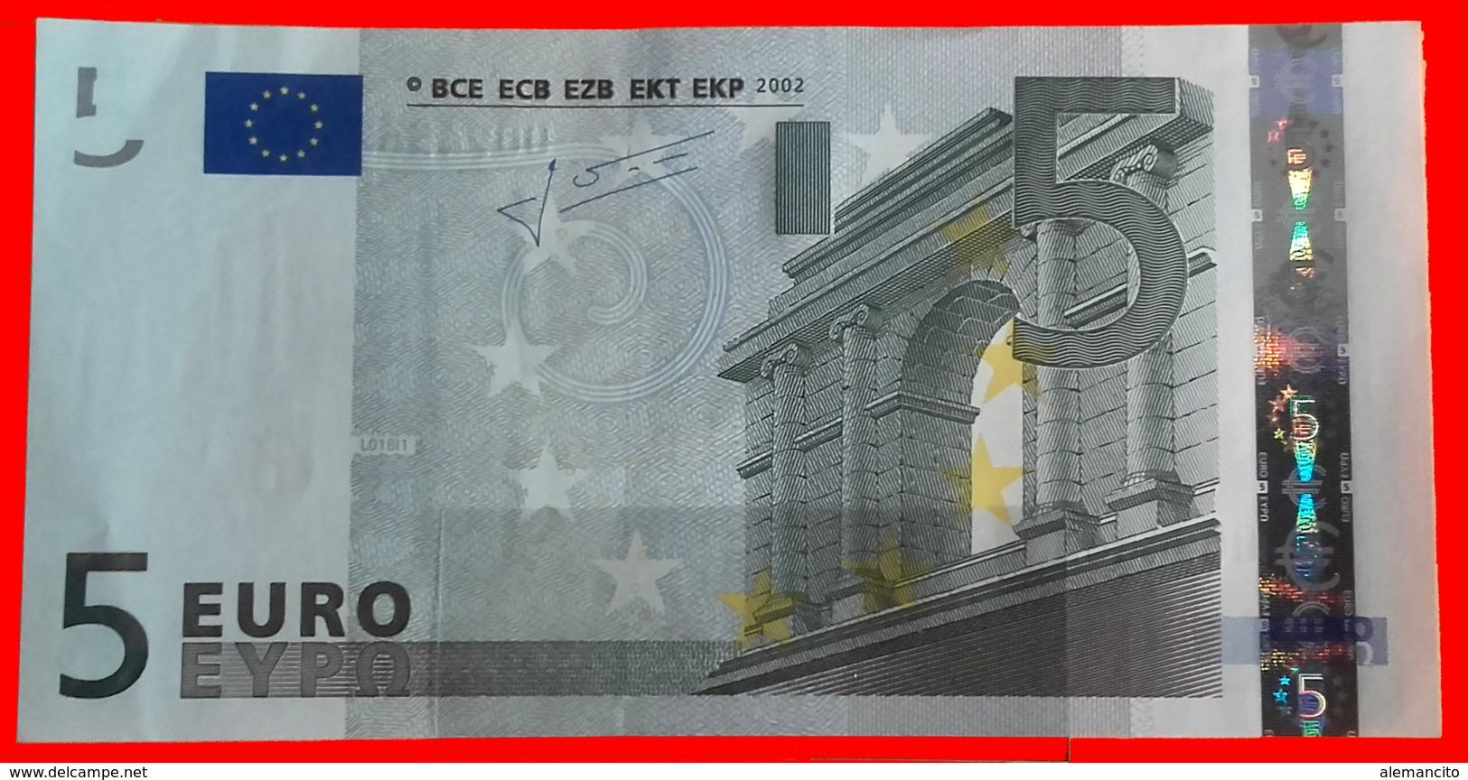 FRANCIA  BILLETE DE 5.00 €  SIN CIRCULAR SERIE U09456358658 FRANCIA  DEL AÑO 2002 - EURO