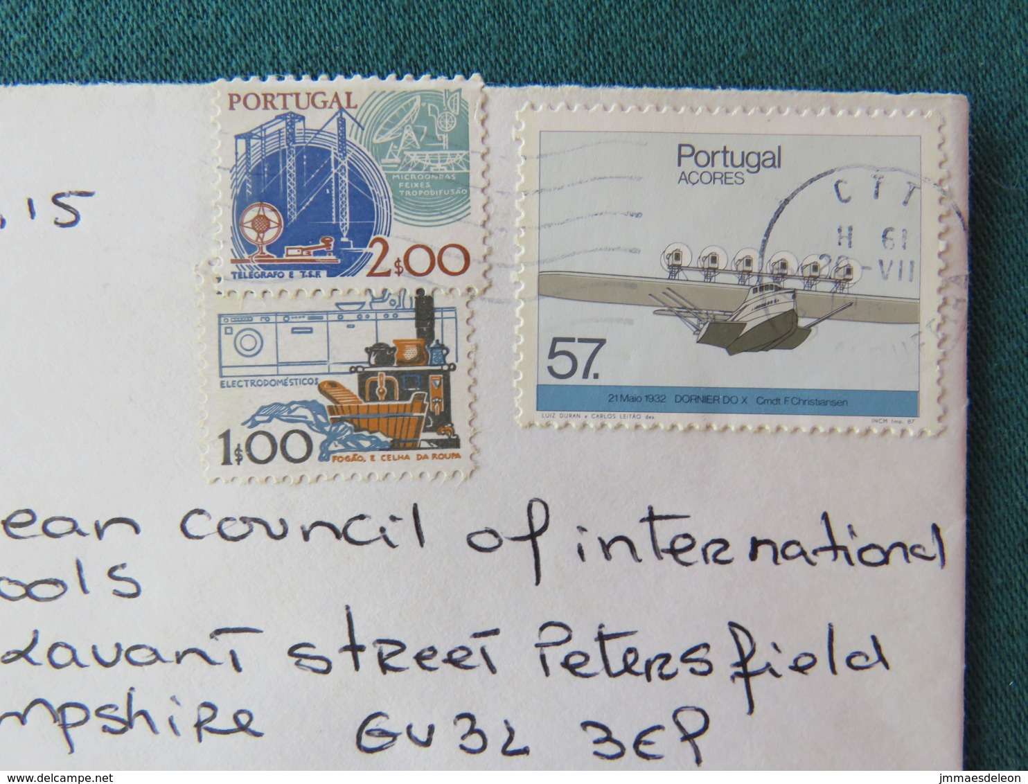 Portugal Cover To England - Plane - Electricity - 1910-... République