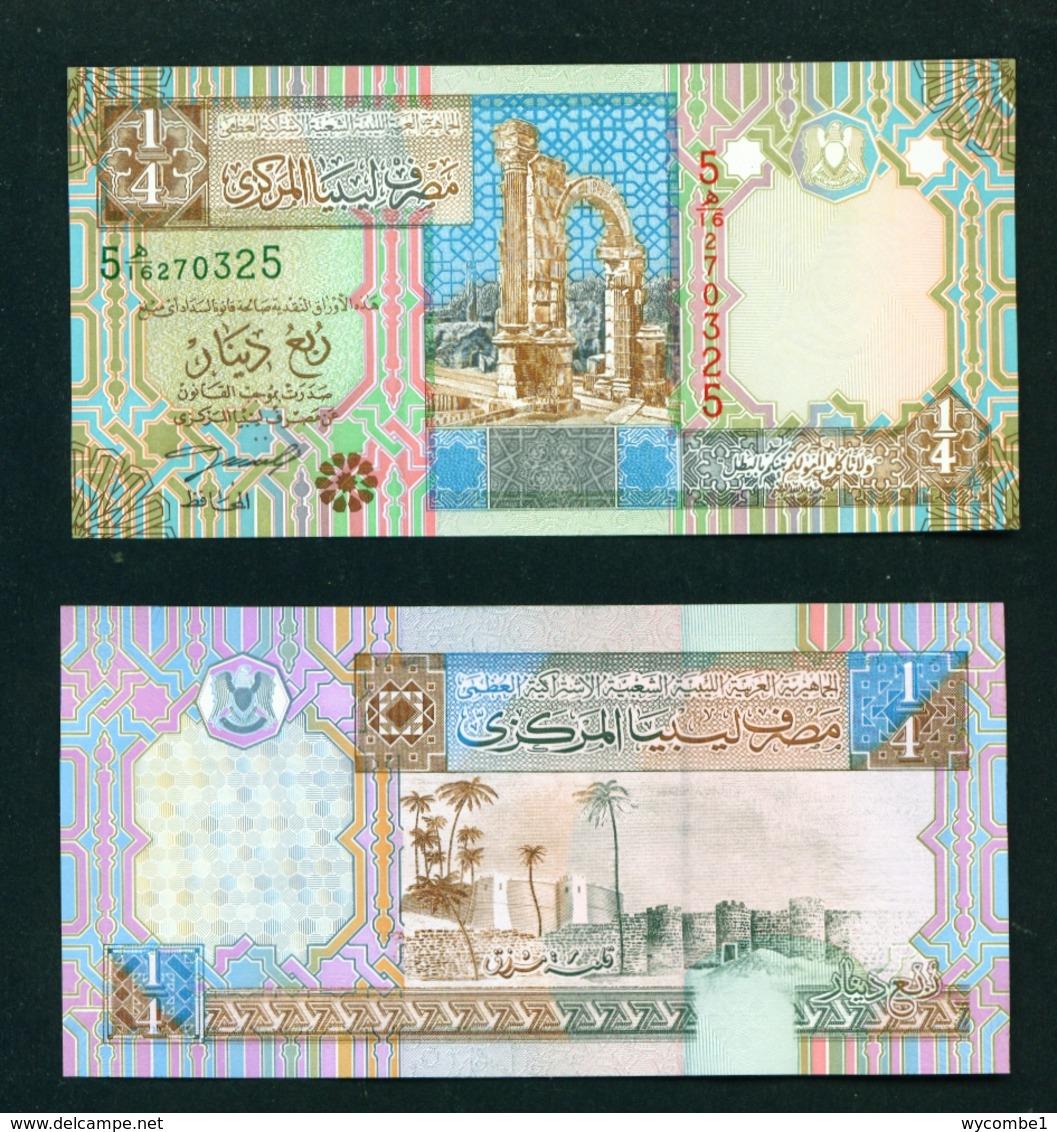 LIBYA  - 2002 Quarter Dinar UNC - Libye