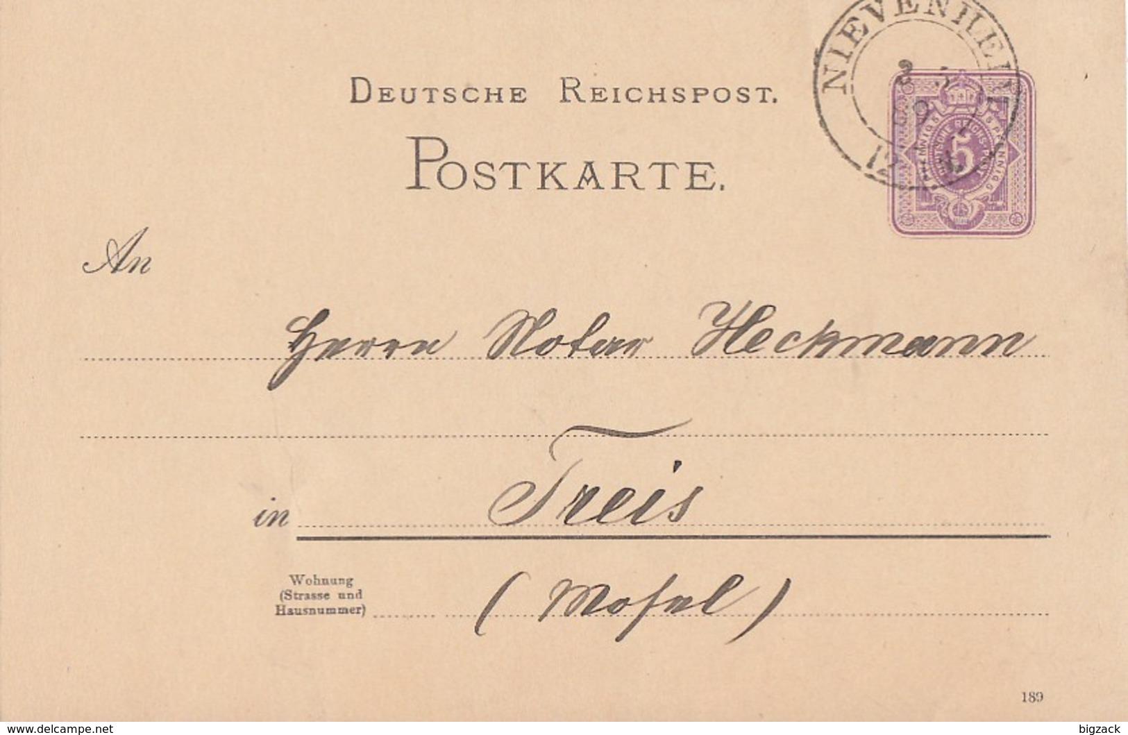 DR Ganzsache K2 Nievenheim 3.5.89 - Deutschland