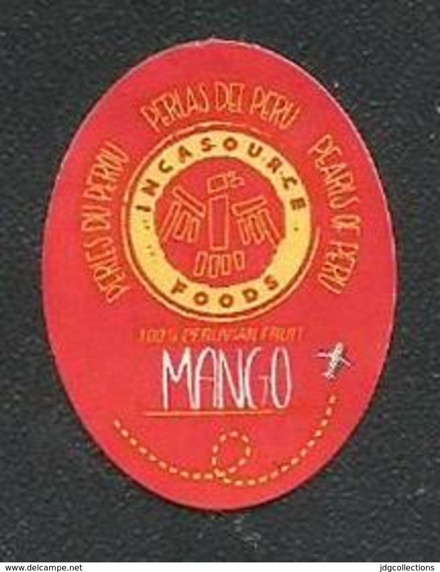 # MANGO INCASOURCE FOODS By Air Fruit Sticker Label Etichette Etiquettes Etiquetas Adhesive Aufkleber Fruta Frucht Peru - Fruits & Vegetables