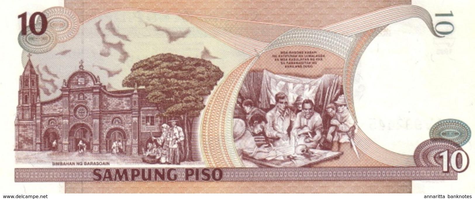 PHILIPPINES 10 PISO (PESOS) 1998 P-187c UNC WMK: MABINI & BONIFACIO [PH1041c] - Philippines